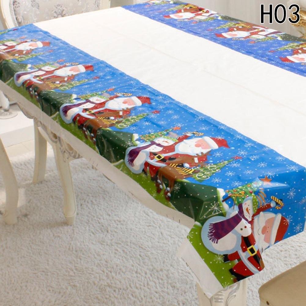 Рождество одноразовая скатерть Аксессуары для дома ПВХ Скатерти дома фестиваль украшение партии