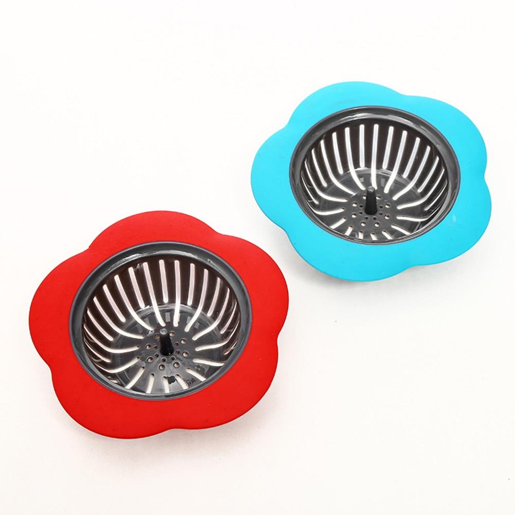 Flower Shaped Plastic Basin Sink Strainer Drain Stopper Kitchen Bathroom Gadget