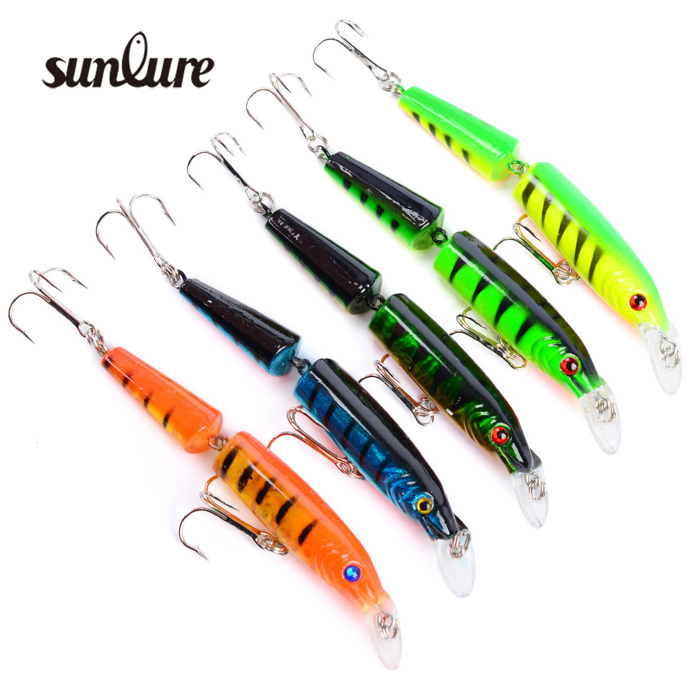 1pc Laser 2 Sections Minnow Fishing Lure 105mm/9.6g pesca hooks fish wobbler tackle crankbait artificial hard bait Gear ZB9051 portable 2 layers many compartments visible pvc fishing lure bait hooks fish tackle box accessory storage box case fishing tool