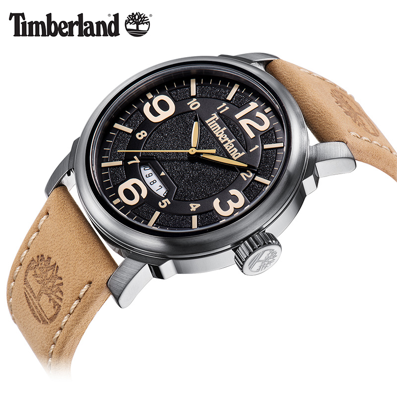 Timberland Original Mens Watches Quartz Calendar Leather Water Resistant Men's Watches T14815
