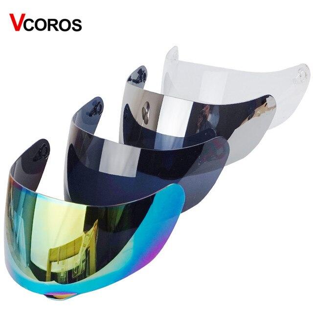 ec180405 Vcoros replacement full face helmet shield for AGV K3 SV K5 full face  motorcycle helmet 4 color Tinted silver black clear lens