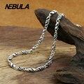 Аутентичные 100% Стерлингового Серебра 925 Старинных Тайский Серебро 5 мм Ожерелье Цепь Новая Мода Мужчины ювелирные изделия Панк Локомотив