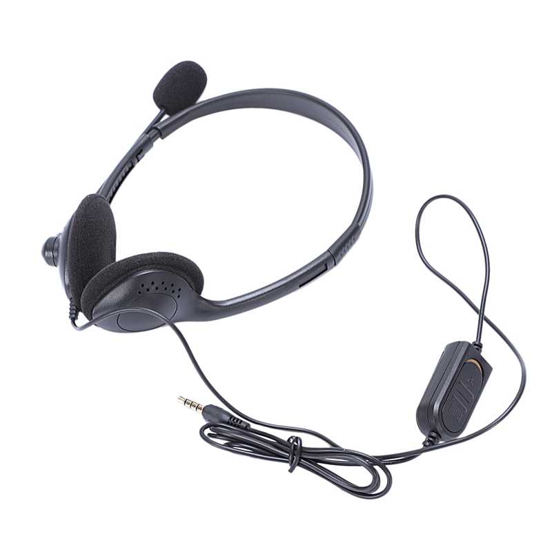 ABSQ 3.5Mm Wired משחקי אוזניות משחק אוזניות מיקרופון סרט עם מיקרופון סטריאו בס עבור מחשב מחשב פלייסטיישן 4 Ps4