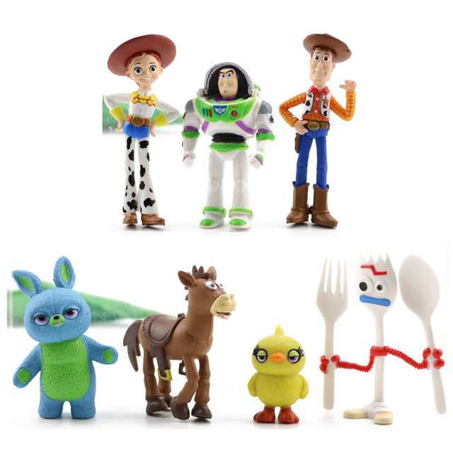 Toy Story 4 Anime Figurine Cake Topper (3, 7, 9 or 17 Piece Sets)