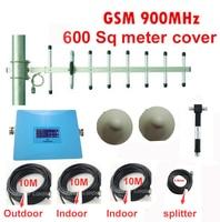 Lcd 디스플레이 gsm 부스터 600sq 미터 공장/사무실 사용 부스터 alc functon gsm 리피터 신호 부스터 w/2 안테나 케이블 35 m