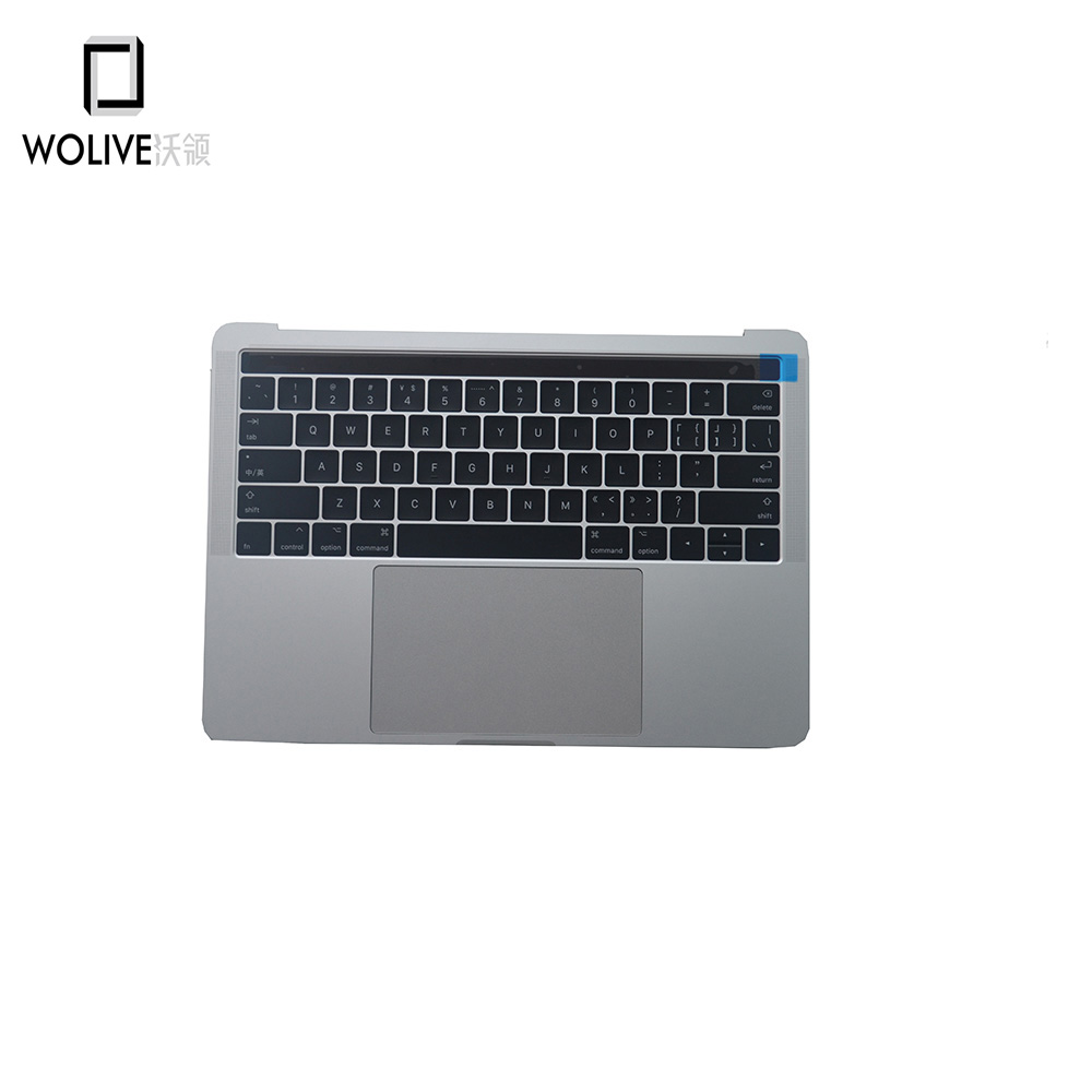 New For Macbook Pro 13 A1706 2016 Topcase Parmrest with US Keyboard Backlight Trackpad Silver color image