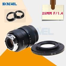 25mm F1.4 CCTV TV Movie obiektyw + C mocowanie do aparatu Nikon 1 AW1 S2 j5 J4 J3 J2 J1 v3 V2 V1 C NI C Nikon 1