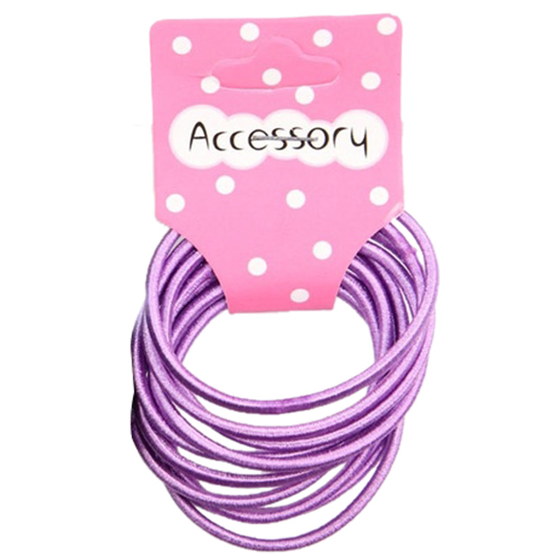 Best Sale New 100pcs Baby Girl Kids Tiny Hair Accessary Hair Bands Elastic Ties Purple