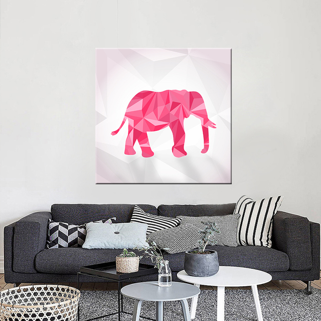 Frameless Canvas Painting Abstract Elephant Wall Art Animal Posters And Prints Modern Nordic Paintings For Living Room In Painting Calligraphy From