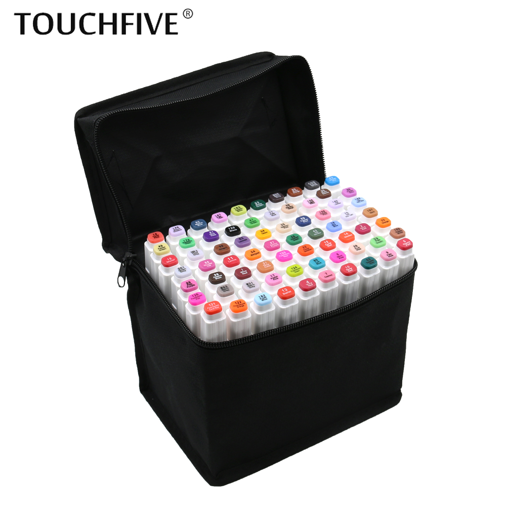 TouchFIVE 30/40/60/80/168 Color Art Markers Set Dual Headed Artist Sketch Oily Alcohol based markers For Animation Marker penTouchFIVE 30/40/60/80/168 Color Art Markers Set Dual Headed Artist Sketch Oily Alcohol based markers For Animation Marker pen