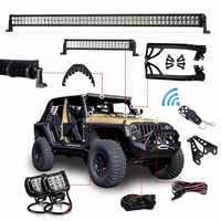 1 set Offroad 300 W 52 Inch LED Licht Bar 20 zoll Haube LED Bar 4 inch Arbeit Licht Verdrahtung halterung für Jeep Wrangler JK 07-15