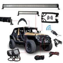 1 set 300W 52'' 100W LED Light Bar 18W Light Bar Work Light Windshield Mounting Brackets for Jeep Wrangler JK 07-15 4WD SUV auxmart led bar 22 324w for jeep wrangler jk 2007 2018 led light bar work light offroad lamp for jeep wrangler unlimited jku