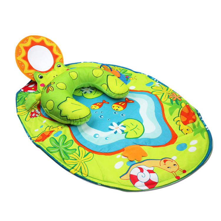 Baby Play Mat Newborn Developing Mat for Baby Gym Crawling Playmat Children's Blanket Mat with Pillow Mirror Game Pad