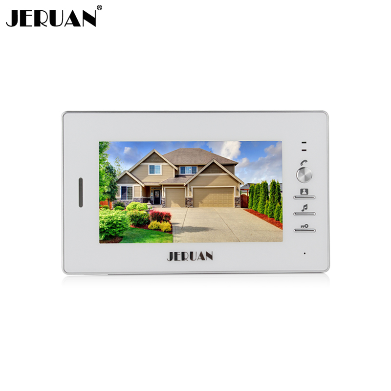 JERUAN FREE SHIPPING 7 inch video door phone  doorbell video door phone intercom system 720W  white monitor  + Power Adapter