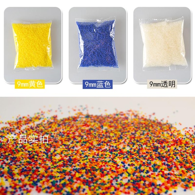 10000 Pcs Colorful Crystal Bullet Soft Water Gun Paintball Bullet Nerf Accessories
