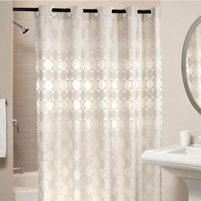 240200cm Gather Polyester Fabric PEVA Shower Curtains Waterproof Mildew Resistant Bath Curtain Elegant Bathroom