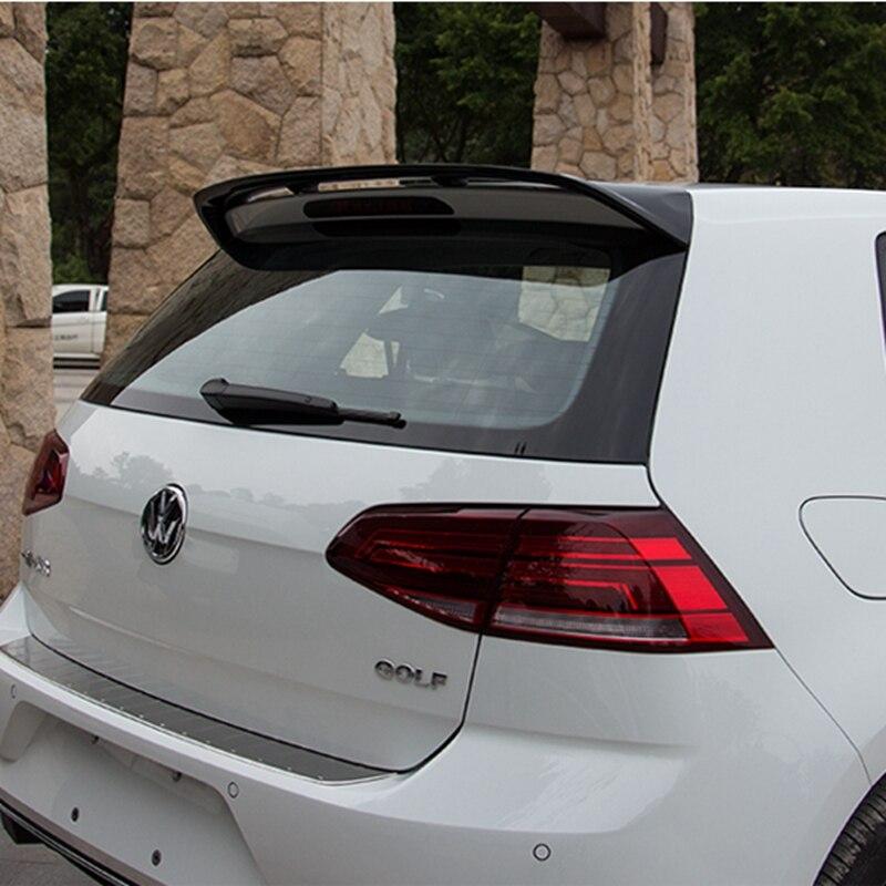 MONTFORD For Volkswagen VW Golf 7 Spoiler 2014 2015 2016 Car ABS Plastic Unpainted Primer Color Rear Trunk Boot Wing Spoiler for hyundai elantra spoiler 2012 2013 2014 2015 car tail wing decoration abs plastic unpainted primer rear trunk spoiler