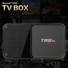 Sunvell T95M S905X Inteligente Android TV Box Set Top Box Amlogic Quad Core Kodi 64Bit Android 5.1 4 K HD 2.4 GHz 16 Reproductor Multimedia Inteligente