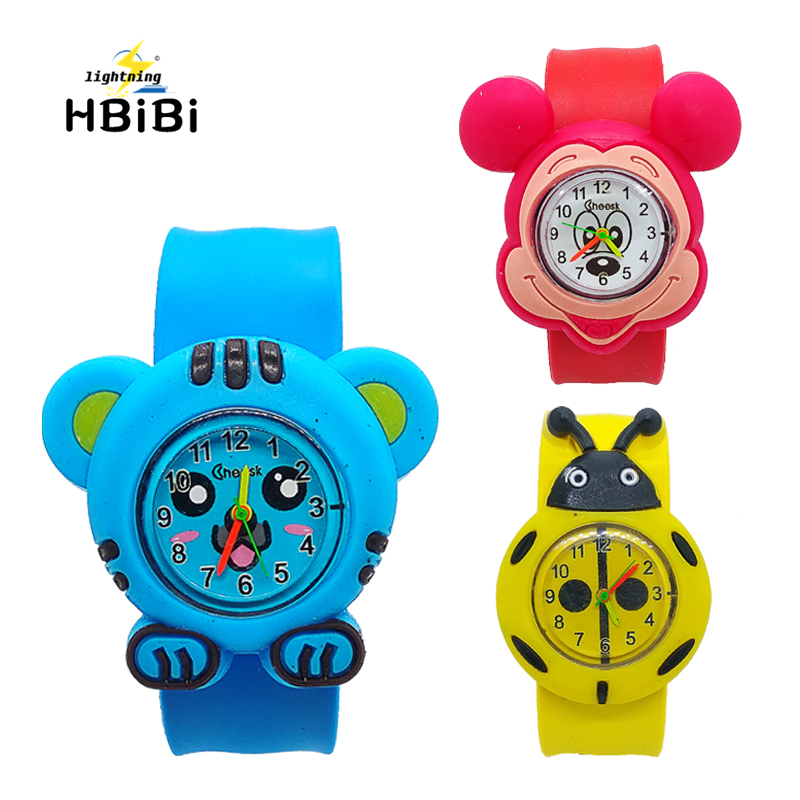 Cartoon Tiger King Watch For Kids Children Watches For Girls Boys Student Clock Fashion & Casual Electronic Ladybug Child Watch