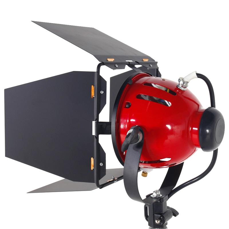 Prix pour ASHANKS 800 W Studio Vidéo Rouge tête Lumière avec Gradateur D'éclairage Continu + Ampoule Livraison Gratuite