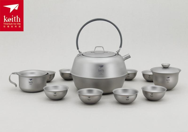 Keith 1500ML Titanium Tea Set Camping Cup 522g Ti3930 amsterdam tea set 6 cup royal blue
