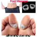Silicone Magnetic Foot Toe Rings Massager Lose Weight Body Slimming Stimulator Health Fitness Sculptor Massager