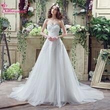 Alexzendra Stock Dresses un vestido de novia con cuentas de línea Sweetheart elegantes vestidos de novia listos para enviar