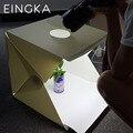 2016 NUEVOS Grandes (40x40x40 cm) Plegable Estudio Difusa Suave Caja con Luz LED Negro blanco Fondo Photo Studio Accesorios
