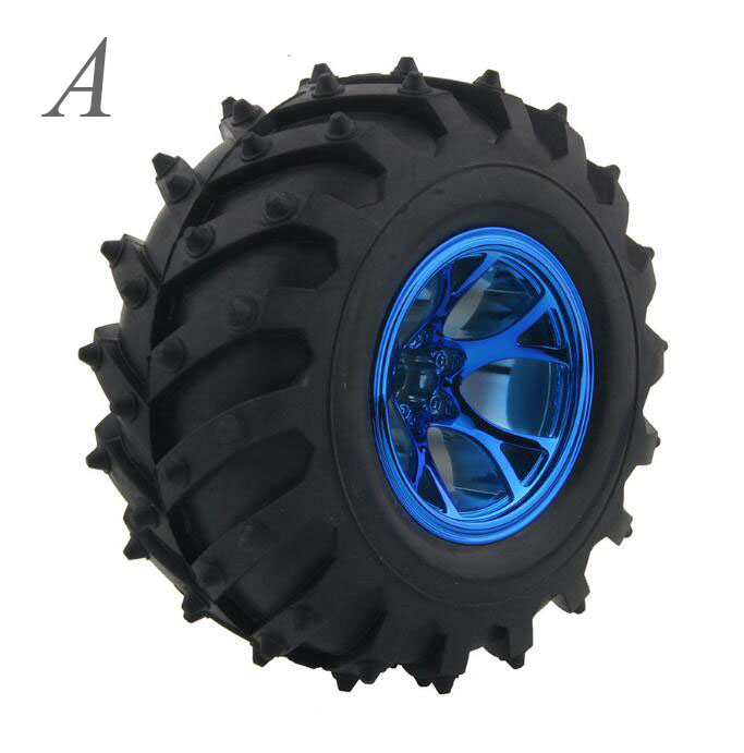 Free Shipping 1PC 1/10 Scale RC Monster/Crawler Truck Tire Rubber Tyre Wheel For HSP/Heng Long/HPI RC Monster Car 4pcs rc crawler truck 1 9 inch rubber tires