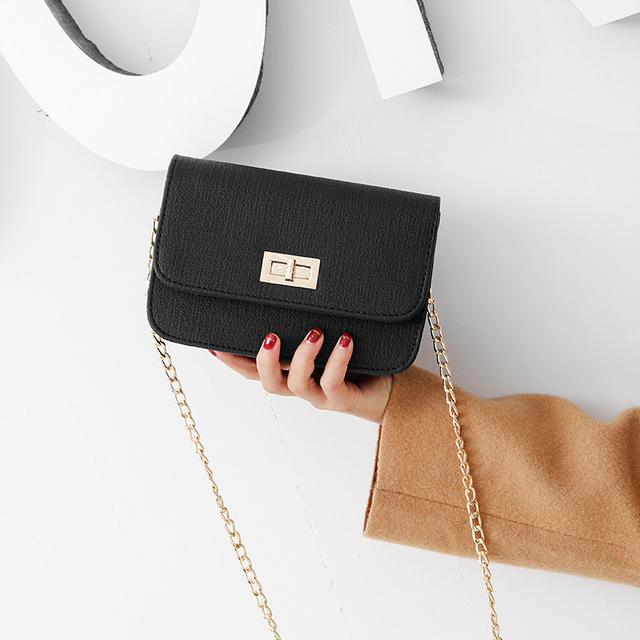 cb93e4f8fe35 LEFTSIDE Women Small Flap Luxury Cross-body Lock Shoulder Bags Ladies  Leather Chains Crossbody Mini Bag Black Red Candy Color