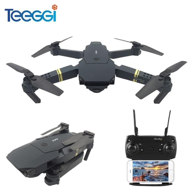 Teeggi M68 FPV RC Drone Avec Grand Angle HD Caméra haute Tenue Mode Pliable Quadcopter Hélicoptère VS Eachine E58 VISUO XS809HW