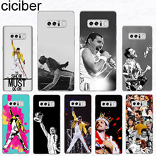 ciciber For Samsung Galaxy S 5 6 7 8 9 Edge Plus Soft Silicone TPU Freddie Mercury Phone Cases Note 3 4 Fundas