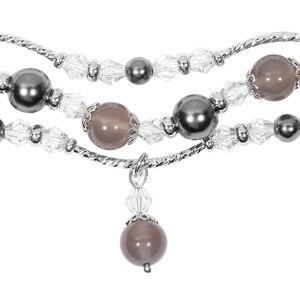 Image 3 - Bracelet Pulseira pour xiaomi mi bande 3 mi bande 4 Bracelet perles de cristal Agate chaîne sangle remplacement Smart poignet accessoires bandes