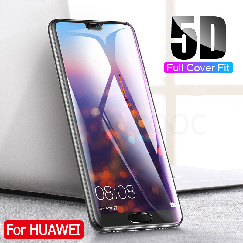 5D Full Cover Tempered Glass For Huawei P20 <font><b>Lite</b></font> P20 Pro Nova 3E Screen Protector Glass For <font><b>Honor</b></font> <font><b>9</b></font> <font><b>Lite</b></font> 9i 10 <font><b>Protective</b></font> Glass image