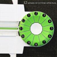 Multi function Cutting Paper Cutter A4 Crop Photo Manual 12 kinds of lace Cutter DIY Business Card cutter
