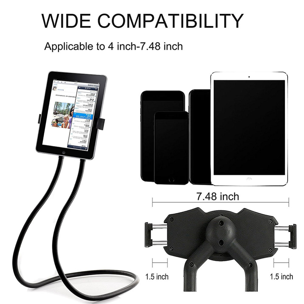 Mobile Phone Holders & Stands Wrumava Universal Phone Holder Stand For Samsung Desk Tablet Pc Stands For Iphone Ipad Compatible Within 3.5~10.5 Inches Screen