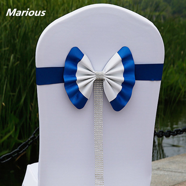 Phenomenal Us 155 1 6 Off Royal Blue Leather Wedding Chair Sash Chair Bow Diamond For Event Decoration In Sashes From Home Garden On Aliexpress Com Pdpeps Interior Chair Design Pdpepsorg