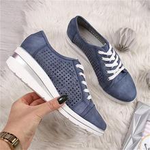 ECN/Женская обувь на танкетке; сезон лето-осень; повседневные парусиновые кроссовки; дышащие кроссовки на платформе; туфли-лодочки с острым носком; обувь из сетчатого материала