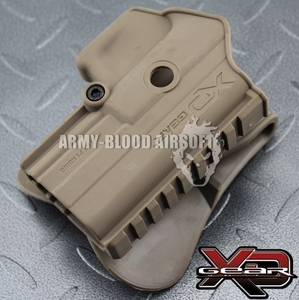 Springfield Armory XD Gear XD3500H Polymer Paddle Holster for XDM Tactical Holster (DE BK)