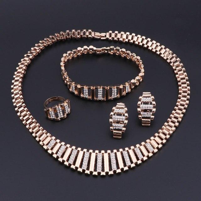 Модные африканские бусы Ювелирные наборы для женщин Свадебные