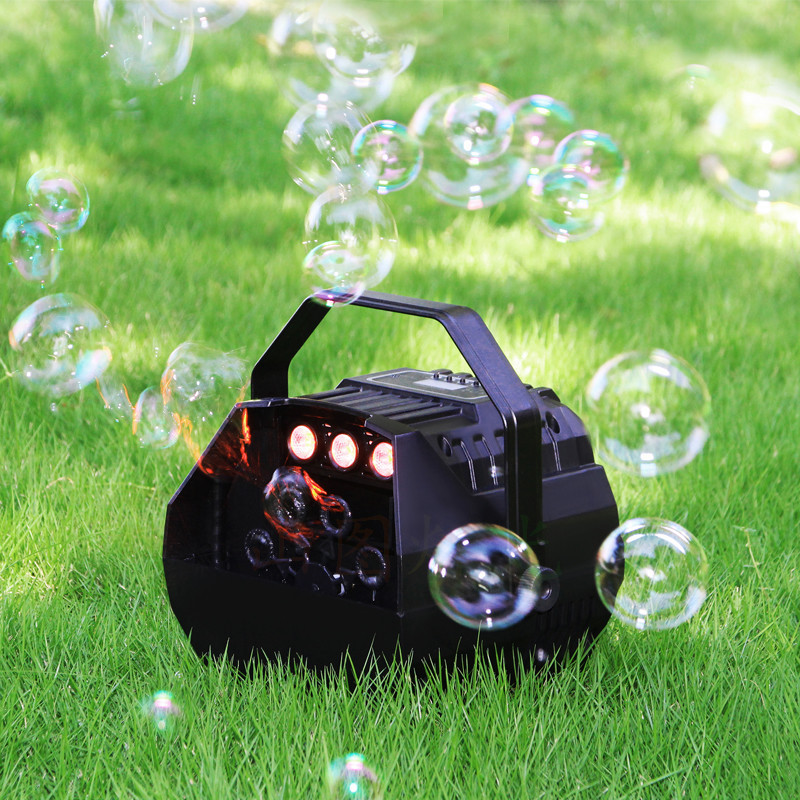 LED Machine Automatic Bubble Blower Commercial Lights Remote Distance Wireless Control Birthday Party Wedding Stage Festival