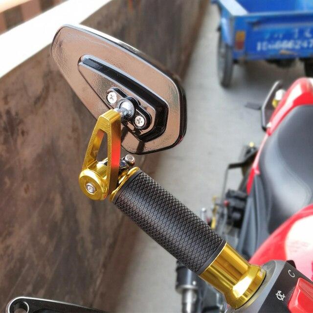"""7/8 """"22mm Bar End lusterka wsteczne akcesoria motocyklowe skutery motocyklowe lusterko wsteczne lusterka boczne Moto dla Cafe Racer"""