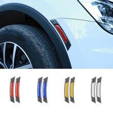 Pegatinas de cejas para rueda de puerta de coche, pegatinas reflectantes para BMW, Volkswagen, Toyota, Ford, Mazda, Audi, decoración del cuerpo luminosa