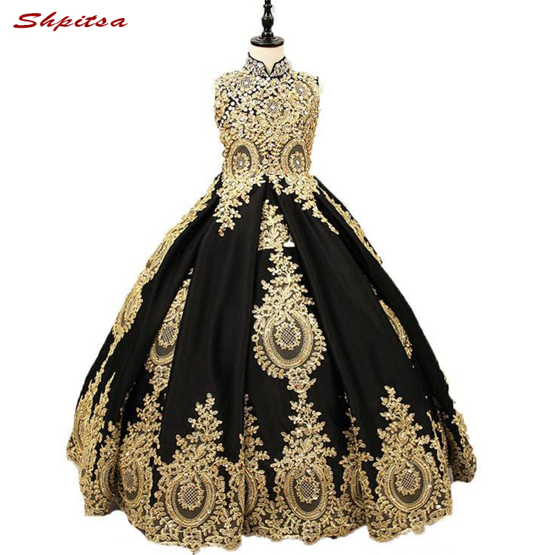 Luxury Flower Girl Dresses for Wedding Party Flowergirl First Pageant Communion Dresses 2018