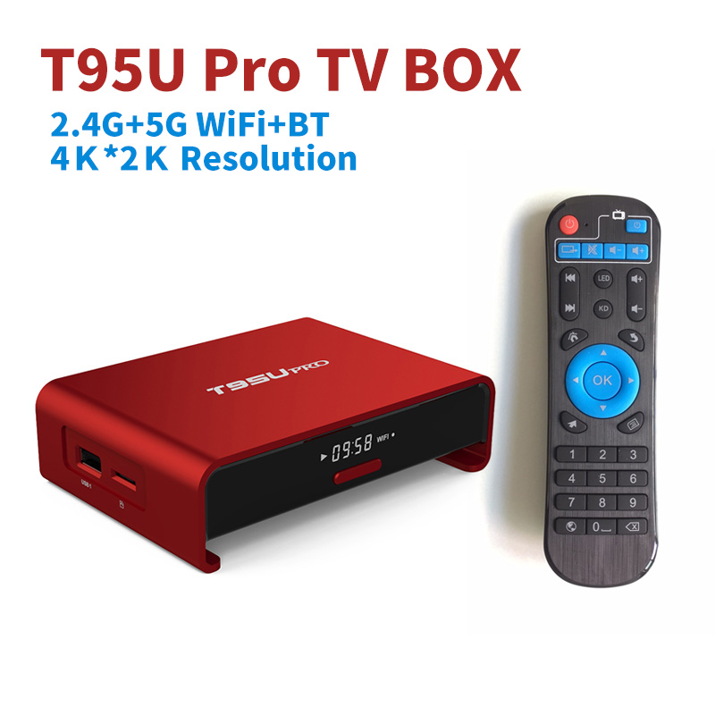 T95U PRO 3G + 32G 2G + 16G 2.4G/5G WiFi 4 K Android 6.0 TV Box Amlogic S912 Octa
