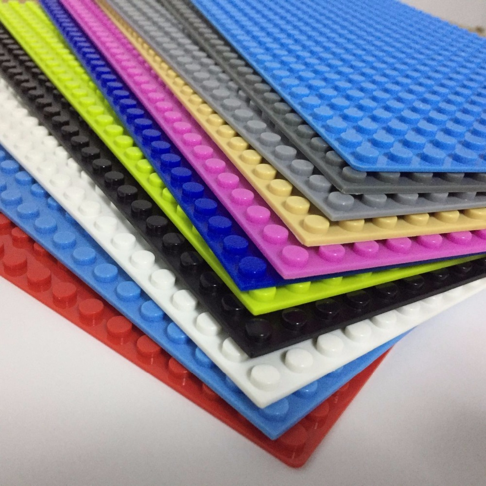 2x Building Base Plates Board 32x32 Dots DIY Building Blocks Educational Toy US