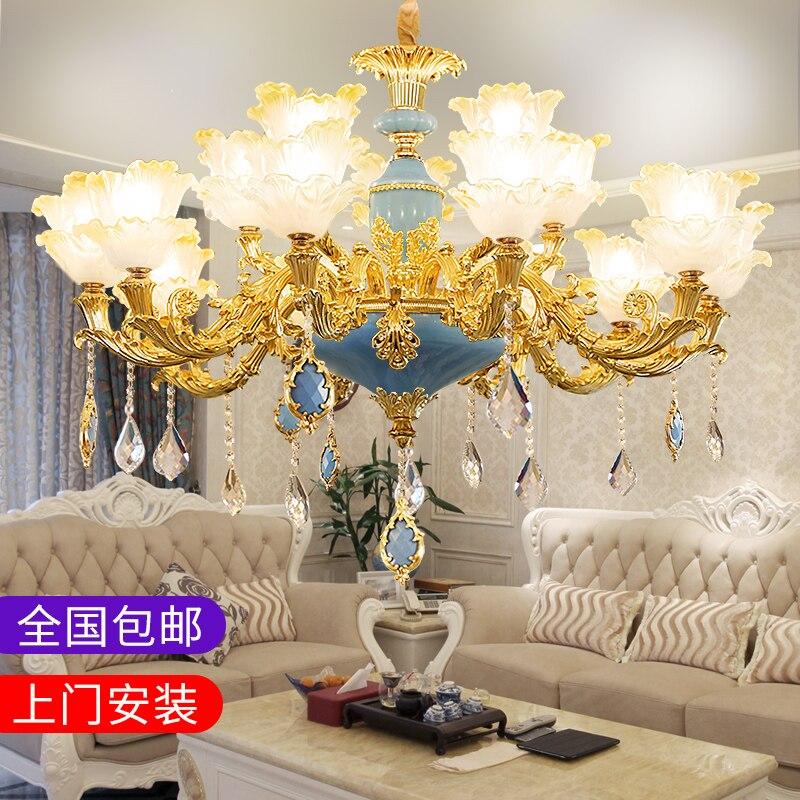 Stile europeo lampada a sospensione tutta la casa combinazione pacchetto di atmosfera di lusso camera da letto ristorante della lega Francese lampadario di cristallo - 2