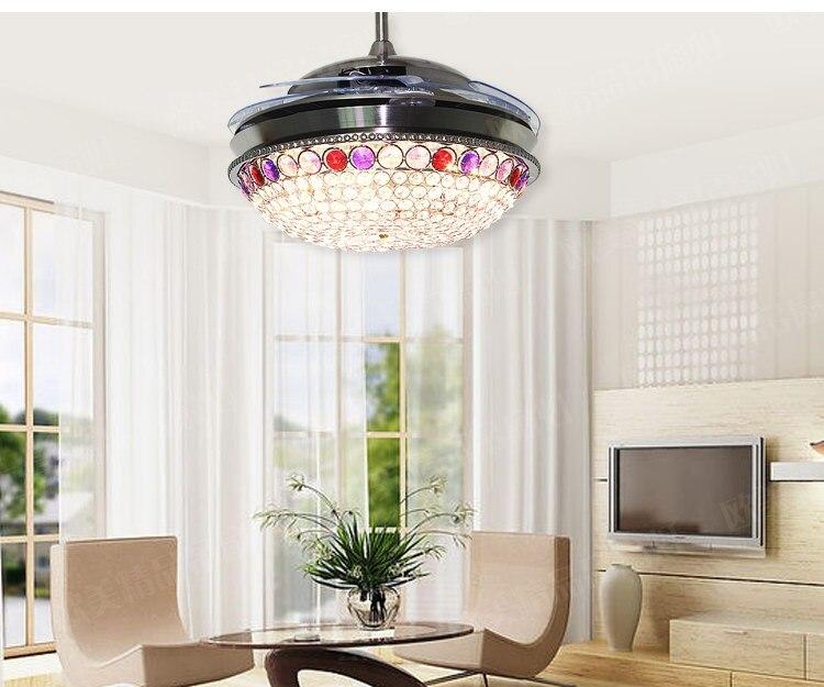 42inch stealth chandelier fan light modern minimalist folding fan ...