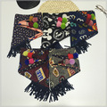 Moda Precioso Triángulo bufanda Niños Niños Niñas niños Bufandas Bufanda de algodón Nuevo Invierno Cálido Floral bufanda de la bola 30*90 cm