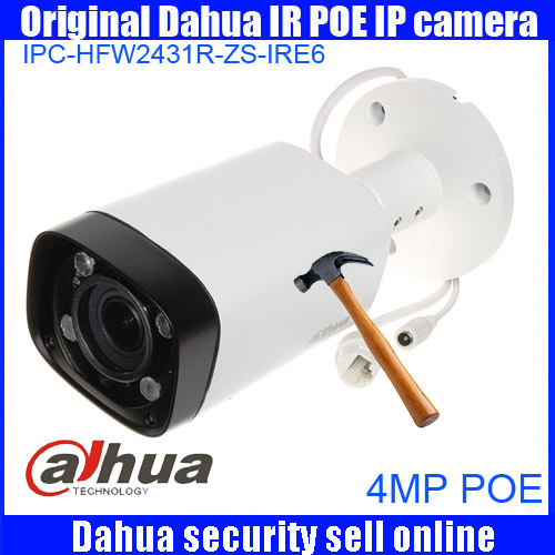 Dahua origina DH-IPC-HFW2431R-ZS-IRE6 2.7mm ~12mm varifocal motorized lens 4MP IR 60M IP camera IPC-HFW2431R-ZS-IRE6 cctv camera видеокамера ip dahua dh ipc hdbw2220rp zs 2 7 12мм 1 2 8 1984x1225